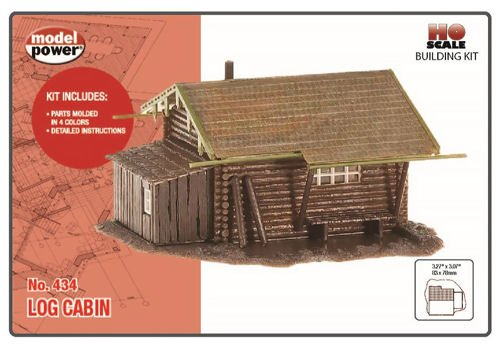 Model Power HO Scale Building Kit - Hunter's Log Cabin (Ho Model Train Building Kits compare prices)