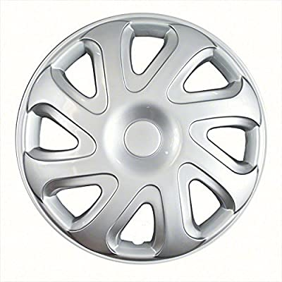 2000-2002 Toyota Corolla 14 Inch Silver Metallic Clip-On Hubcap Covers