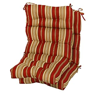 Greendale Home Fashions Indoor/Outdoor High Back Chair Cushions, Roma Stripe, Set of 2 by Greendale Home Fashions - Lawn and Garden