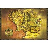 GB eye 61 x 91.5 cm Lord Of the Rings Classic Map Maxi Poster