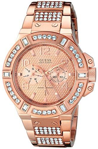 Guess U0292G2 - Reloj para hombres, correa de acero inoxidable color oro rosa