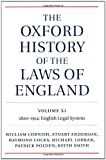 The Oxford History of the Laws of England, Volumes XI, XII, and XIII: 1820-1914