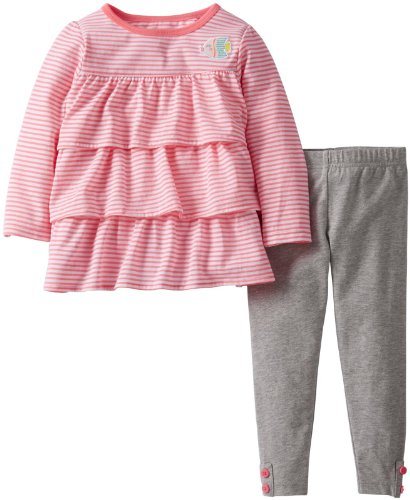 Carter'S Girls' 2 Piece Striped Knit Pants Set (Toddler) - Fish - 4T front-142219
