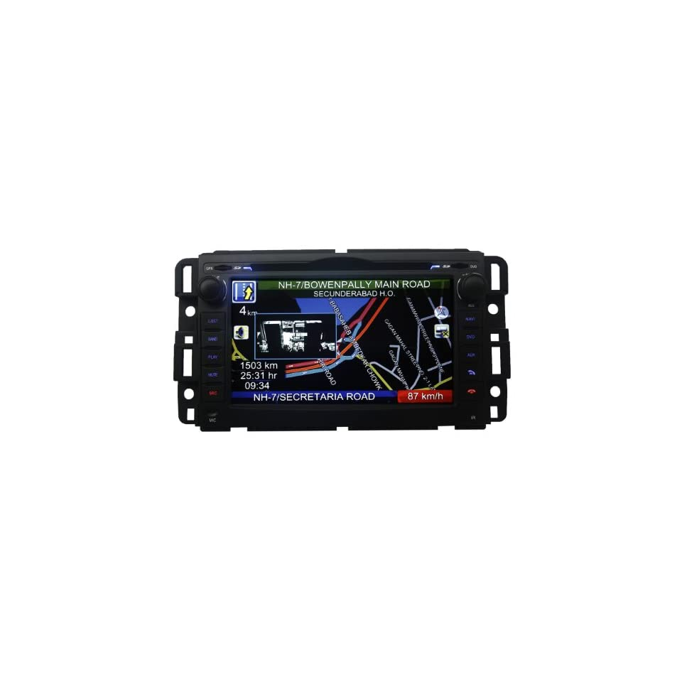 """Koolertron (TM) For GMC Indash DVD GPS Player Navigation System AV Receiver Car Radio with 7"""" Touchscreen Monitor + RDS PIP  Vehicle Dvd Players"""
