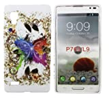 Kit Me Out UK TPU Gel Case for LG Optimus L9 P760 - White Coloured Butterlfy