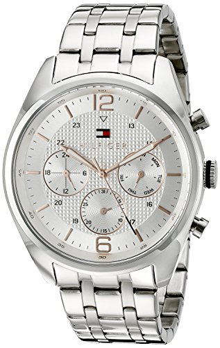 Tommy Hilfiger Men's 1791186 Sophisticated Sport Analog Display Quartz Silver Watch - 51xmsGZHomL - Tommy Hilfiger Men's 1791186 Sophisticated Sport Analog Display Quartz Silver Watch