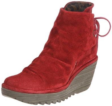 Fly London Yama, Boots femme - Rouge (Red), 36 EU (4 UK) (5 US)