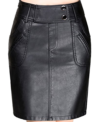 helan-womens-high-waist-pockets-decorated-pu-leather-short-skirts-black-uk-14-16
