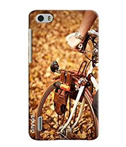 Ómnam Bicyle With Horn Printed Designer Back Cover Case For Huawei Honor 6