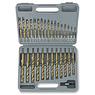 Tooluxe 10055L Titanium Hex Shank Drill Bits with Quick Change Design | 30-Piece Set