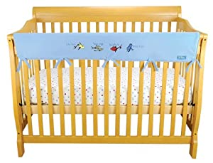 Trend Lab Fleece Dr. Seuss CribWrap Wide Rail Cover for Crib Front or Back, One fish two fish