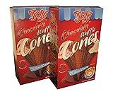 Joy Chocolate Waffle Ice Cream Cones - 12 Per Box - 2 Boxes