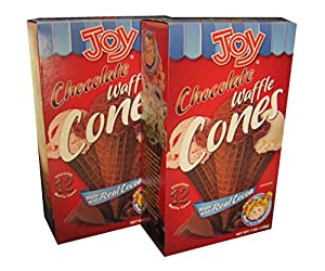 Joy Chocolate Waffle Ice Cream Cones - 12 Per Box - 2 Boxes