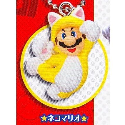 Super Mario 3D world mascot Key Chain Strap 1.cat Mario separately strap