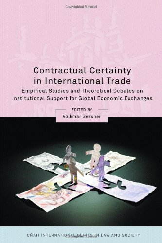 Contractual Certainty in International Trade: Empirical Studies and Theoretical Debates on Institutional Support for Global Economic Exchanges (Onati International Series in Law and Society)