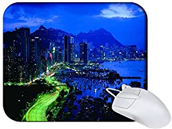 Snoogg City At Night Non Slip Rubber Mouse Pad