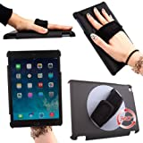 DURAGADGET High Quality Soft Grip Handle Case For The New Apple iPad Mini / Mini 2 & Retina Display Models (Wi-Fi & Cellular) (16GB, 32GB, 64GB) With 360° Rotation And Adjustable Hand Strap - Perfect For Commuting On The Train or Teaching!