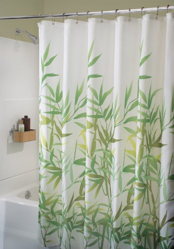 InterDesign Anzu Fabric Shower Curtain Green 72 X Inch Ferns