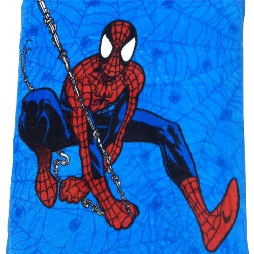 Marvel Comics Spider-Man Toddler Plush Blanket - Spiderman Webslinger Toddler Size Bed