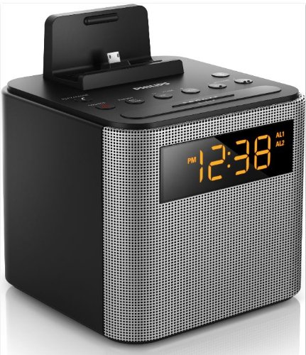philips ajt3300 37 bluetooth dual alarm clock radio iphone android speaker dock speakerphone. Black Bedroom Furniture Sets. Home Design Ideas