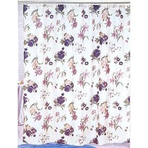 purple flower nylon shower curtain 70 x 70