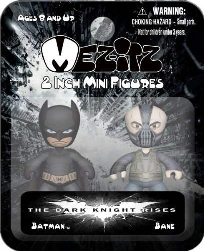 "Mezco Toyz Dark Knight Rises Mezitz 2"" 2-Pack Batman/Bane"