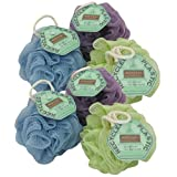 Ecotools Ecopouf Mini Bath Sponge, Assorted Colors, (Pack of 6)