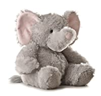 Aurora Plush 12 inches Elephant Tubbie Wubbie (Light Grey) by Aurora Plush