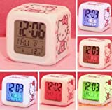 Glowing LED colour change digital alarm clock