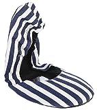 Ladies 1 Pair Tipsy Feet Nautical Blue Foldable Shoes