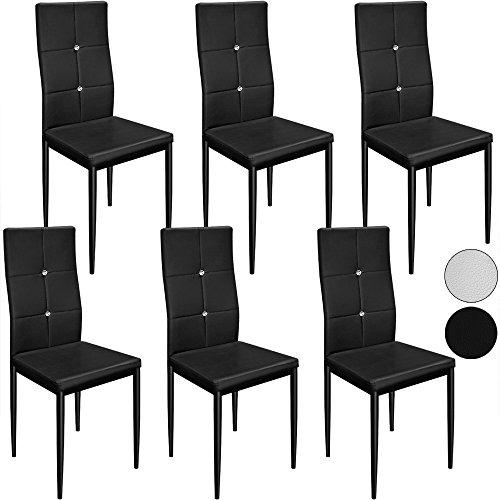 6-Esszimmersthle-Stuhl-Hochlehner-Polsterstuhl-Sitzgruppe-Essgruppe-Esszimmerstuhl-wei