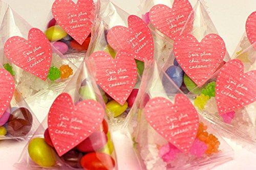 Sweet Factory Yammy(スイートファクトリー ヤミー) プチギフト ミニチョコ プチお菓子 テトラ型パック ハート マーブル 50個