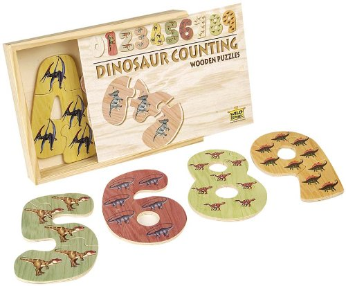 Cheap Wild Republic Dinosaur Wooden Counting Puzzle (B000FA2AG2)