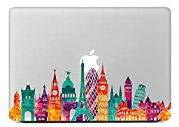 Last Innovation European architecture Removable Vinyl Decal Sticker Skin for Macbook Pro Air Mac 13\