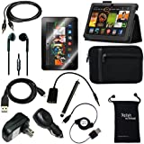 """Fire HDX 8.9 Case - DigitalsOnDemand® 12-Item Accessory Kit - Leather Case & Sleeve Cover, Screen Protector, Stylus, Cables/Chargers (fits Amazon Kindle Fire HDX 8.9"""" 2014 4th Gen + 2013 3rd Gen)"""