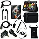 DigitalsOnDemand ® 12-Item Accessory Bundle Kit for New Amazon Kindle Fire HDX 8.9 Tablet - Leather Case, Sleeve Cover, Screen Protector, Stylus Pen, USB Cables + Chargers (will only fit Kindle Fire HDX 8.9 Inch)