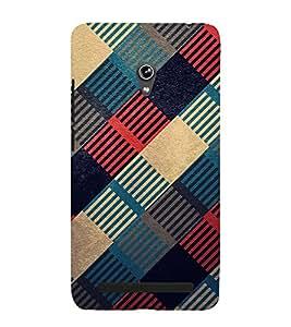 MULTICOLOURED CHECK PATTERN 3D Hard Polycarbonate Designer Back Case Cover for Asus Zenfone 6 A601CG :: Asus Zenfone 6 A600CG