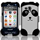 For Samsung Galaxy Rush M830 (Boost) Rubberized Design Cover - Panda Bear