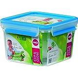 EMSA 508537 Frischhaltedose CLIP & CLOSE quadratisch, 1,75 Liter (100% dicht, gefriergeeignet, mikrowellengeeignet, BPA frei, Made in Germany)