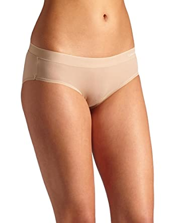 Calvin Klein Women's Second Skin Cut & Sewn Hipster Panty, Skin, Small