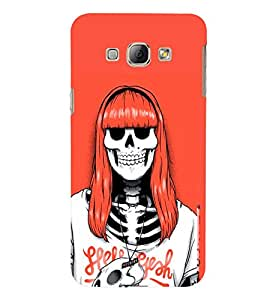 TOUCHNER (TN) Lady Skeleton Back Case Cover for Samsung Galaxy A8::Samsung Galaxy A8 A800F