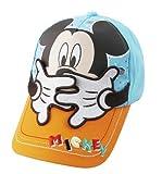 Disney Mickey Mouse Baby Hat Unisex Children Visor Cap (50cm(19.6inch), Blue)