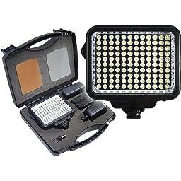 JVC GC-PX10 Camcorder Lighting Vidpro K-120 On-Camera LED Video Light Kit