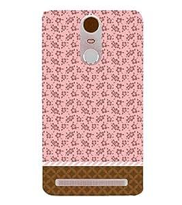 Flower Chevron Pink 3D Hard Polycarbonate Designer Back Case Cover for Lenovo Vibe K5 Note