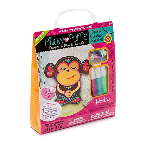 Darice PUF-121 Designer Pillow Puff Kits, Monkey Design