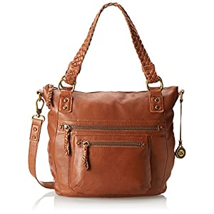 The SAK Mariposa Satchel Top Handle Bag,Tobacco,One Size