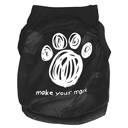 [Dog Footprints dogs pets spring summer clothing For Summer Vest Sleeveless Dog (M)] (Dachshund Tootsie Roll Costume)