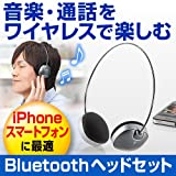 サンワダイレクト Bluetoothヘッドセット 音楽&通話 iPhone スマートフォン 対応 軽量タイプ 400-HS030
