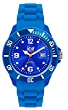 Ice Watch - SI.BE.U.S.09 - Montre Mixte - Quartz Analogique - Cadran Bleu Nuit - Bracelet Silicone Bleu - Moyen Modle
