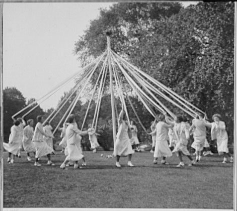 Maypole Dance at Masters School in Dobbs Feryy, New York 1934